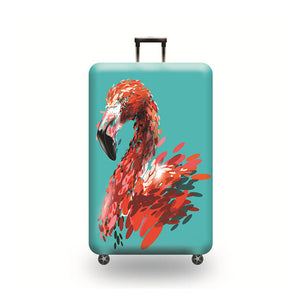 Flamingo Art | Standard Design | Luggage Suitcase Protective Cover - Small - Luggage Cover Encompass RL