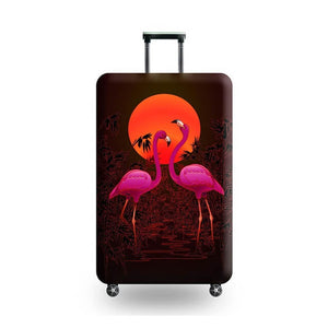 Flamingo Sunset | Standard Design | Luggage Suitcase Protective Cover - Small - Luggage Cover Encompass RL