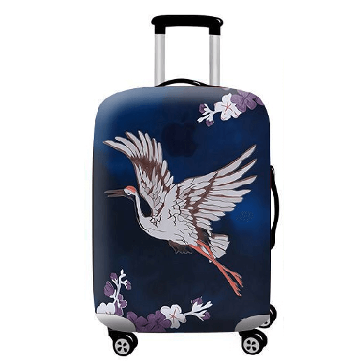 Flying Crane | Standard Design | Luggage Suitcase Protective Cover - Small - Luggage Cover Encompass RL