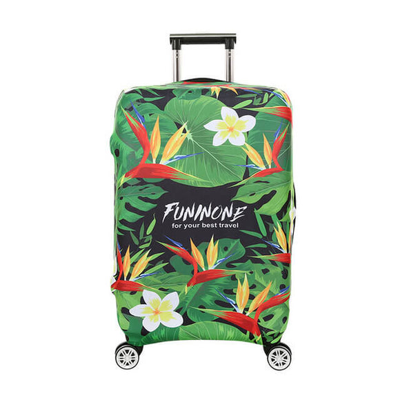Tropical Birds of Paradise | Standard Design | Luggage Suitcase Protective Cover - Small - Luggage Cover Encompass RL