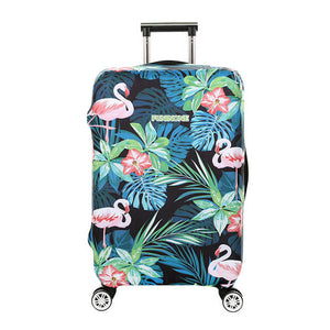 Tropical Flamingo Forest | Standard Design | Luggage Suitcase Protective Cover - Small - Luggage Cover Encompass RL