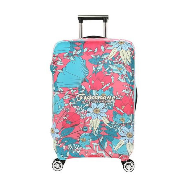 SCOCICI Travel Luggage Cover Suitcase Cover Retro Warm Colored Plants Season Flowers Abstract Lines Circles Swirls Image Suitcase Luggage Case Covers Fits 19-32 Inch
