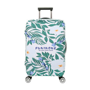 Elastic Travel Luggage Cover Palm Leaves Black White Geometric Suitcase Protector for 18-20 Inch Luggage