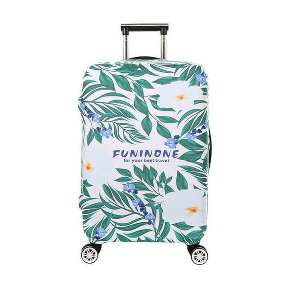 Tropical Leaves | Standard Design | Luggage Suitcase Protective Cover - Small - Luggage Cover Encompass RL