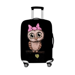 Girly Owl | Standard Design | Luggage Suitcase Protective Cover - Small - Luggage Cover Encompass RL