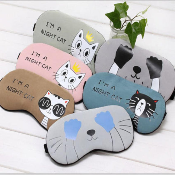 Fun Cat Sleeping Eye Mask - - Sleeping Mask Encompass RL