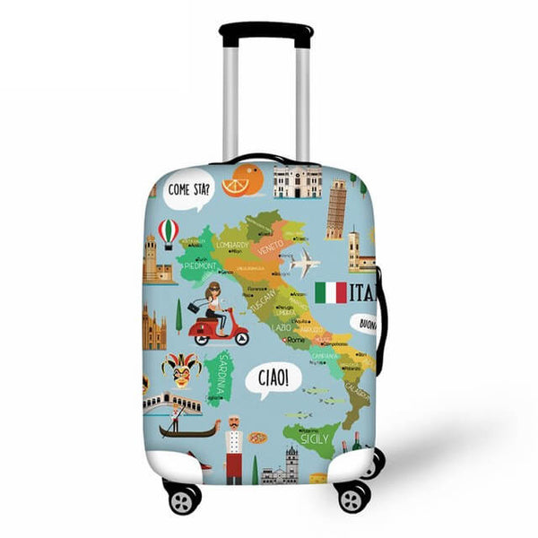 SCOCICI Luggage Bag Cover Masks for Masquerade Italian Fantasy Floral Design Art Print Elastic Suitcase Protective Cover Travel Luggage Case Cover
