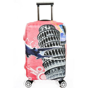 Leaning Tower | Standard Design | Luggage Suitcase Protective Cover - Small - Luggage Cover Encompass RL