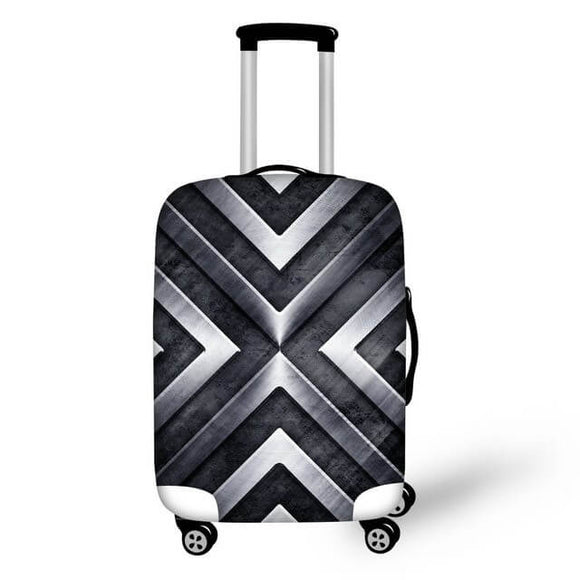 Titanium #2 | Premium Design | Luggage Suitcase Protective Cover - Small - Luggage Cover Encompass RL