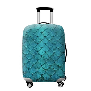 Mermaid Scales | Standard Design | Luggage Suitcase Protective Cover - Small - Luggage Cover Encompass RL