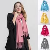 Solid Colors Pashmina Neck Scarf - - Winter Gear Encompass RL