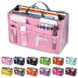 Carryall Organizer Handbag Insert | Make Up Bag Purse Pouch