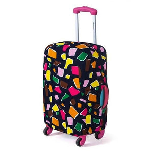 Polygon Colors | Basic Design | Luggage Suitcase Protective Cover - Small - Luggage Cover Encompass RL