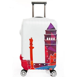 Colorful Polygon Landmark | Standard Design | Luggage Suitcase Protective Cover - Small - Luggage Cover Encompass RL