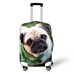 Pug Dog #2 | Premium Design | Luggage Suitcase Protective Cover - Small - Luggage Cover Encompass RL