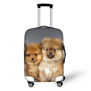 Pomeranian Puppies | Premium Design | Luggage Suitcase Protective Cover - Small - Luggage Cover Encompass RL