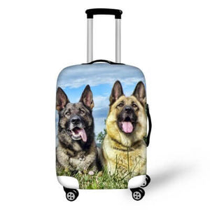 German Shepherds Dog | Premium Design | Luggage Suitcase Protective Cover - Small - Luggage Cover Encompass RL