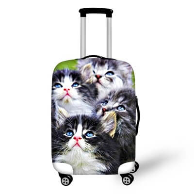 Kittens | Premium Design | Luggage Suitcase Protective Cover - Small - Luggage Cover Encompass RL