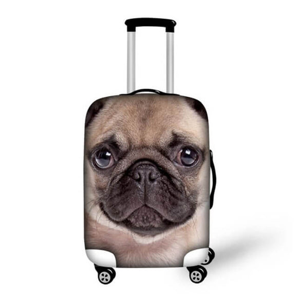 Pug Dog #1 | Premium Design | Luggage Suitcase Protective Cover - Small - Luggage Cover Encompass RL