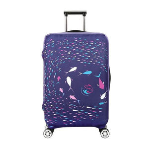 Purple Fish Art | Standard Design | Luggage Suitcase Protective Cover - Small - Luggage Cover Encompass RL