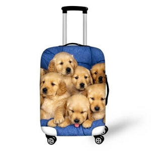 Golden Retriever Puppies #1 | Premium Design | Luggage Suitcase Protective Cover - Small - Luggage Cover Encompass RL