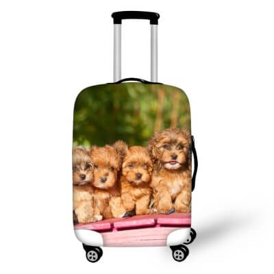Terrier Puppies #2 | Premium Design | Luggage Suitcase Protective Cover - Small - Luggage Cover Encompass RL