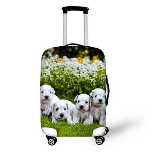 Puppies | Premium Design | Luggage Suitcase Protective Cover - Small - Luggage Cover Encompass RL