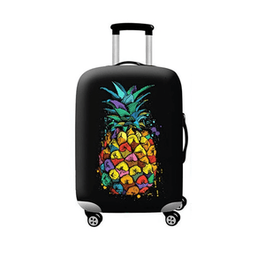 Rainbow Pineapple | Standard Design | Luggage Suitcase Protective Cover - Small - Luggage Cover Encompass RL