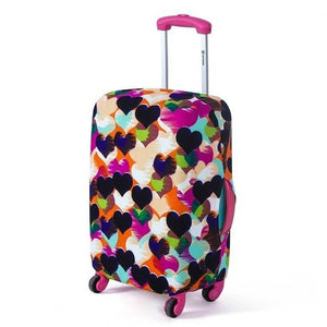 Scuff Hearts | Basic Design | Luggage Suitcase Protective Cover - Small - Luggage Cover Encompass RL