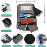 Details RFID Blocking Travel Passport Holder Neck Wallet Neck Pouch | Traveling Document Organizer Purse