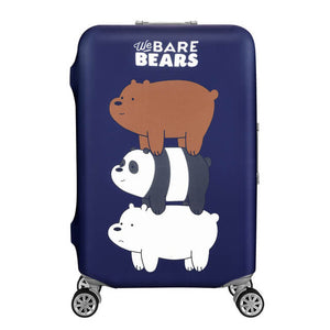We Bare Bears Navy Blue | Standard Design | Luggage Suitcase Protective Cover - Small - Luggage Cover Encompass RL