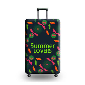 Summer Lovers | Standard Design | Luggage Suitcase Protective Cover - Small - Luggage Cover Encompass RL