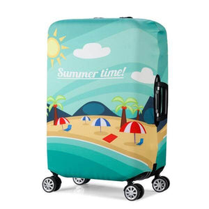 Summer Time | Standard Design | Luggage Suitcase Protective Cover - Small - Luggage Cover Encompass RL
