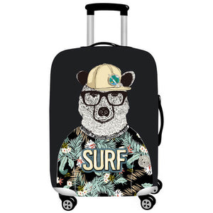 SURF Bear | Standard Design | Luggage Suitcase Protective Cover - Small - Luggage Cover Encompass RL