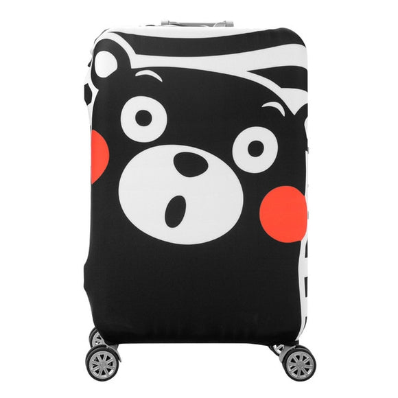 Surprised Kumamon Bear | Standard Design | Luggage Suitcase Protective Cover - Small - Luggage Cover Encompass RL
