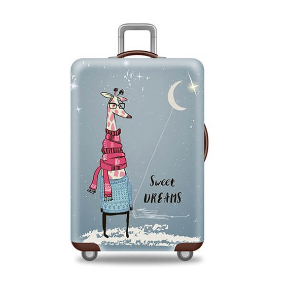 Sweet Dreams Giraffe | Standard Design | Luggage Suitcase Protective Cover - Small - Luggage Cover Encompass RL