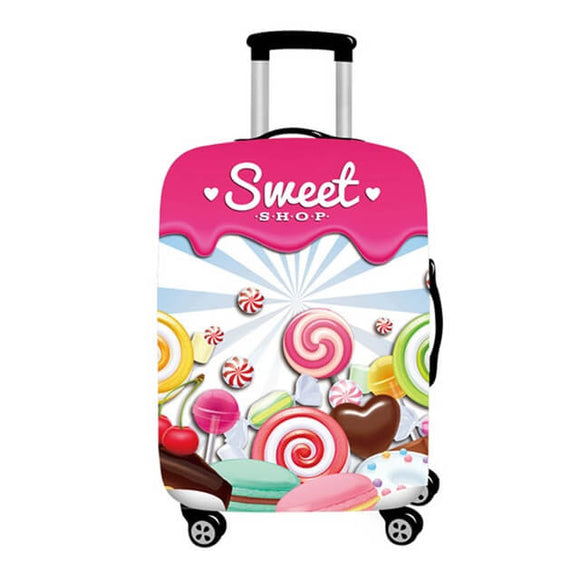 Sweet Shop Candies | Standard Design | Luggage Suitcase Protective Cover - Small - Luggage Cover Encompass RL