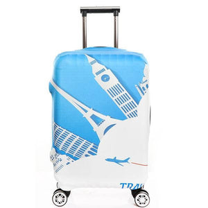 Travel Landmarks | Standard Design | Luggage Suitcase Protective Cover - Small - Luggage Cover Encompass RL