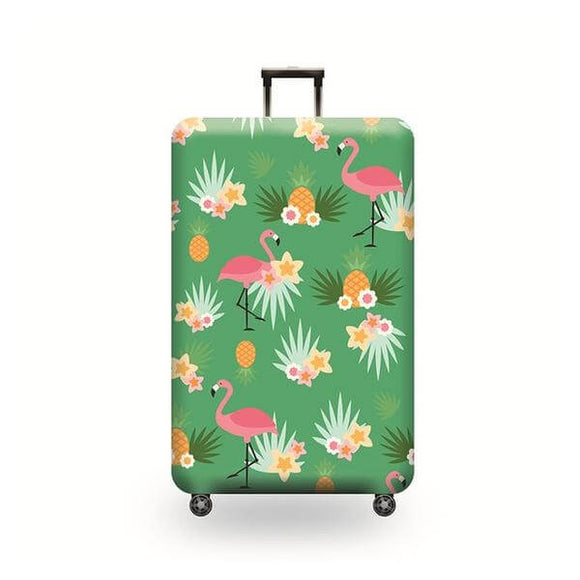 Flamingo Pineapple Prints | Standard Design | Luggage Suitcase Protective Cover - Small - Luggage Cover Encompass RL