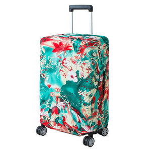 Water Flowers | Basic Design | Luggage Suitcase Protective Cover - Small - Luggage Cover Encompass RL