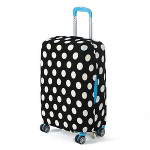 Black and White Polkadots | Basic Design | Luggage Suitcase Protective Cover - Small - Luggage Cover Encompass RL