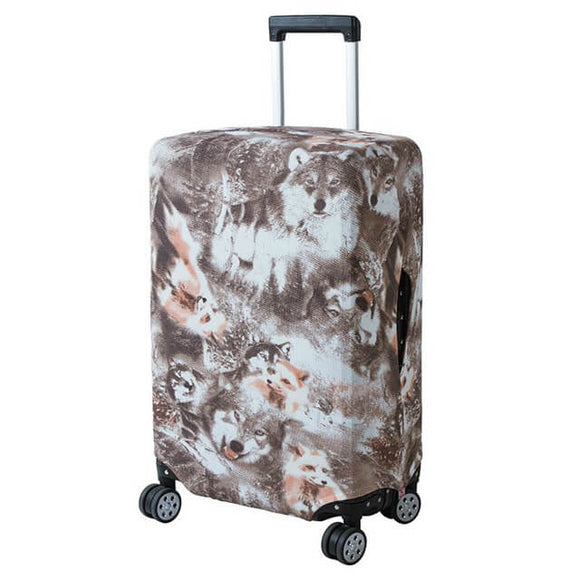 Wolves Wash | Basic Design | Luggage Suitcase Protective Cover - Small - Luggage Cover Encompass RL