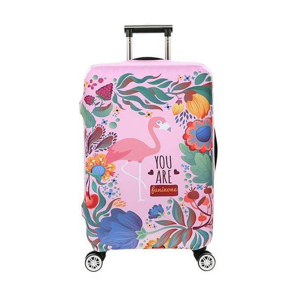 YOU ARE Funinone Pink Flamingo | Standard Design | Luggage Suitcase Protective Cover - Small - Luggage Cover Encompass RL