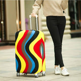 Flowing Rainbow Colors | Standard Design | Luggage Suitcase Protective Cover - - Luggage Cover Encompass RL