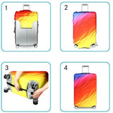 Polygon Colors | Basic Design | Luggage Suitcase Protective Cover - - Luggage Cover Encompass RL