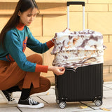 Pug Dog Autumn | Premium Design | Luggage Suitcase Protective Cover - - Luggage Cover Encompass RL