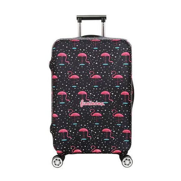 Black Flamingo Prints | Standard Design | Luggage Suitcase Protective Cover - Small - Luggage Cover Encompass RL
