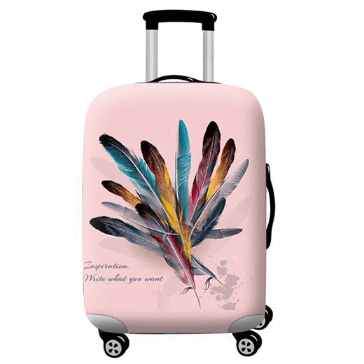 Colorful Feathers | Standard Design | Luggage Suitcase Protective Cover - Small - Luggage Cover Encompass RL