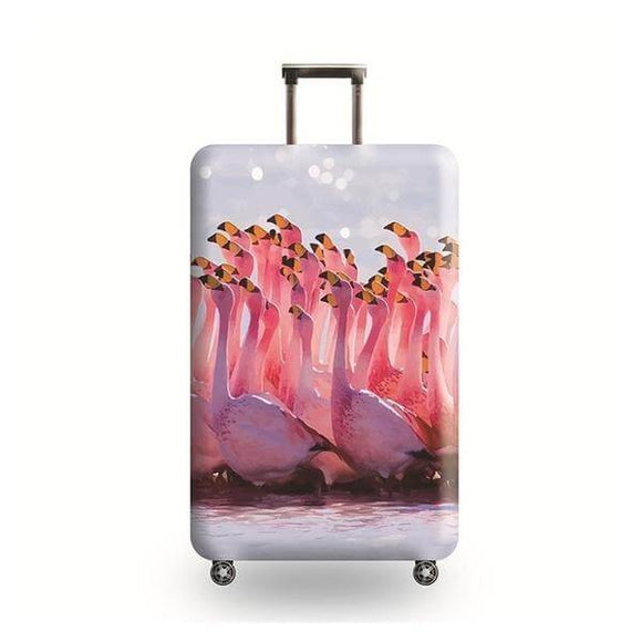 Flamingo Flock #4 | Standard Design | Luggage Suitcase Protective Cover - Small - Luggage Cover Encompass RL