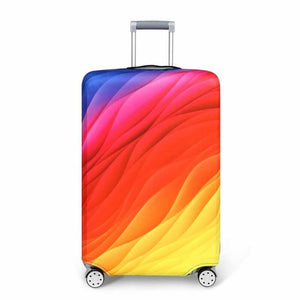 Flowing Rainbow Colors | Standard Design | Luggage Suitcase Protective Cover - Small - Luggage Cover Encompass RL